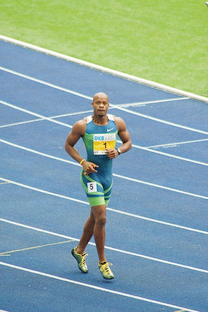 Asafa Powell at the 2006 ISTAF athletics meet