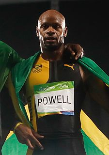 Asafa Powell Jamaican sprinter