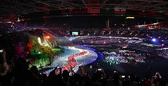 Sport in Indonesia - 2018 Asian Games  opening ceremony in Jakarta.
