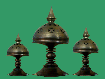 Bell metal made sorai and sophura are important parts of culture Assam Xorai.png