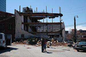 2008 Atlanta tornado outbreak - Damage near Centennial Park.