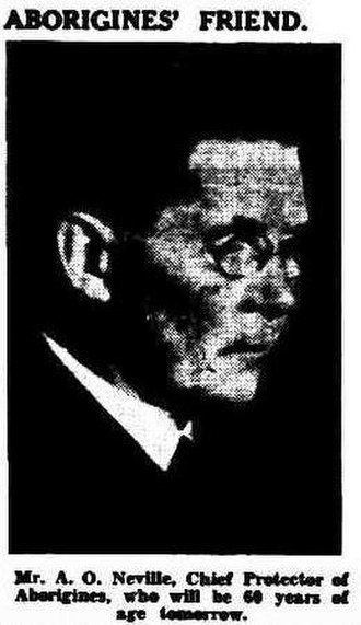 A. O. Neville - A.O.Neville in 1935 edition of The West Australian
