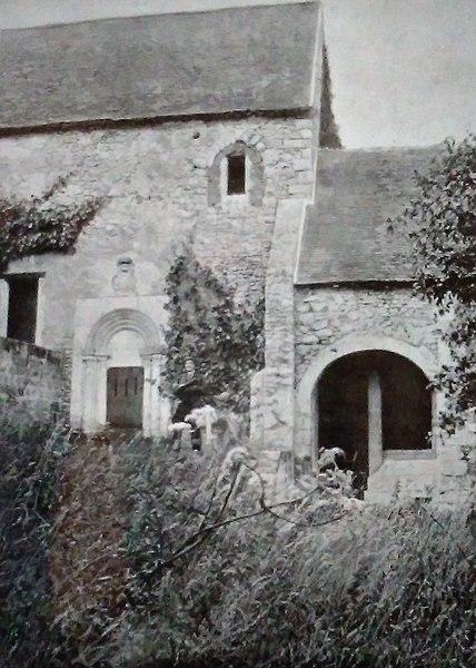 File:Aubevoye - Bethléem - vue générale sur l'accès à la crypte - 1896.jpg