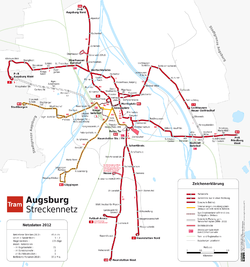 Map of the network, 2012.