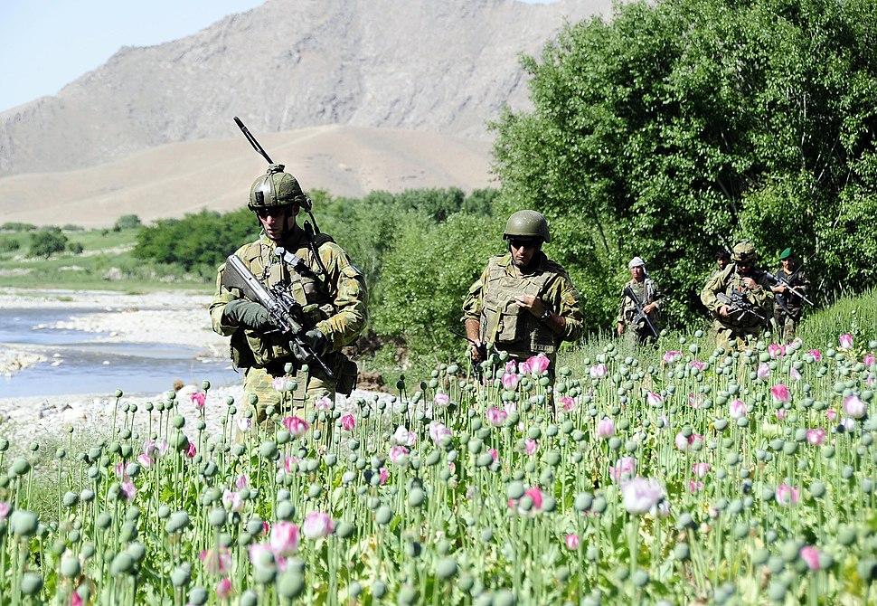 Australian-Afgan Army patrol April 2010