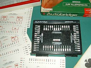Glossary of contract bridge terms - Autobridge, a device for learning bridge