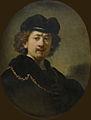 Autoportrait de Rembrandt (Musée du Louvre) (15727584665).jpg
