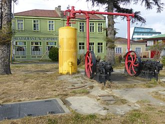 Punta Arenas - Christopher Columbus Avenue, the location of the Old Machine House build in 1890 by Croatians.