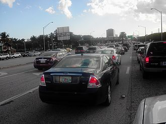 Aventura, Florida - Early afternoon congestion in Aventura on Biscayne Boulevard (US 1)