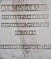 Béky László emléktábla, Szent István tér, 2016 Rákoshegy.jpg