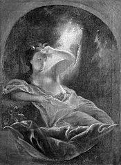 En mytologisk figur. Danaë (?)
