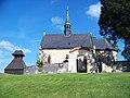 Běleč (KL), kostel svatého Mikuláše se zvonicí.jpg