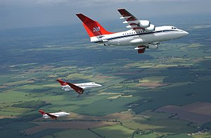 No. 32 Squadron RAF - The squadron's aircraft flew with a distinctive red livery until it was replaced in 2004.
