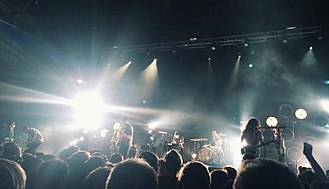 Brand New (band) - Brand New performing at St. Augustine Amphitheatre in St. Augustine, Florida on May 7, 2015.