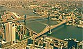 BROOKLYN & MAHATTAN Bridges from the World trade Centre. New York. Circ 1979 - panoramio.jpg