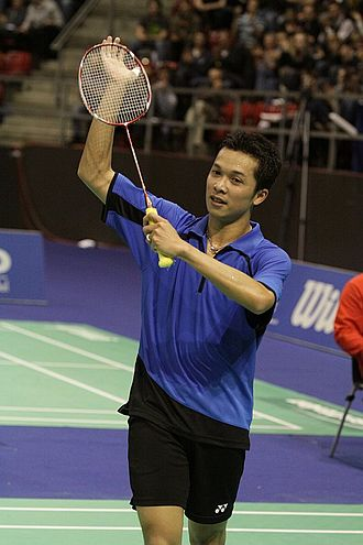 Indonesia national badminton team - Taufik Hidayat, 2004 Olympic gold medalist in badminton men's singles.