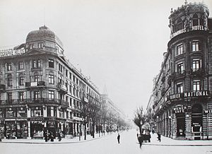 Union Bank of Switzerland - In 1917, the newly merged Swiss Banking Association (later UBS) opened a new headquarters on Bahnhofstrasse (pictured above) in Zurich.