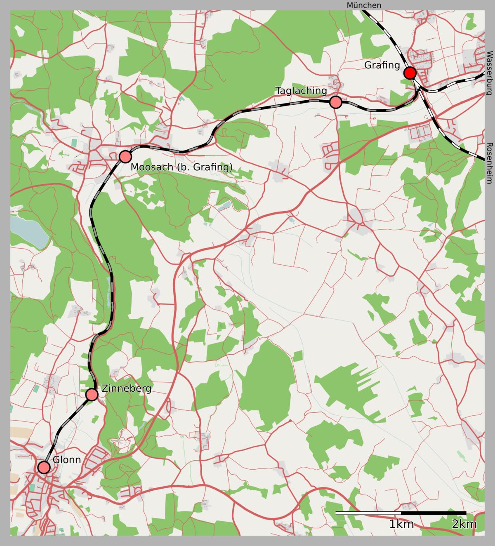Bahnstrecke Grafingglonn Wikipedia