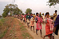 Baiga adivasi in protest walk, India.jpg