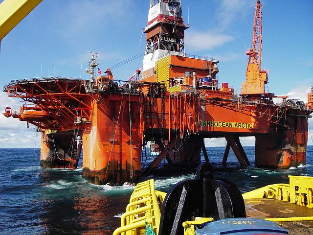 Transocean oil rig.