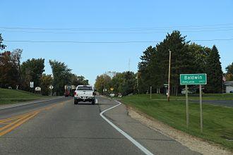Baldwin, Wisconsin - The sign for Baldwin U.S. Route 63
