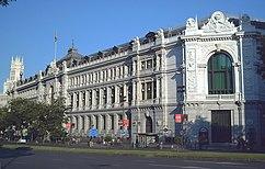 Banco de España (cimentaciones), Madrid (1884-1891), con E. de Adaro, S. Sainz de la Lastra