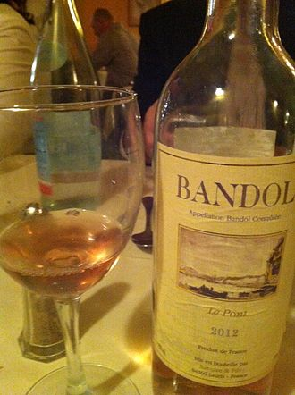 Mourvèdre - A rosé Bandol wine from Provence made mostly from Mourvèdre.