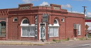 National Register of Historic Places listings in Socorro County, New Mexico - Image: Bank of Magdalena (NM) from SW 2