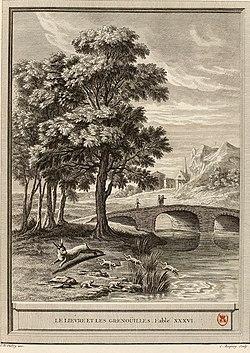 Baquoy-Oudry-La Fontaine-Le lièvre et les grenouilles.jpg