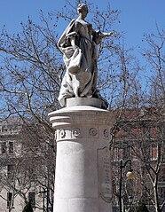 Statue of Maria Bárbara de Bragança (1711-1758), infanta of Portugal