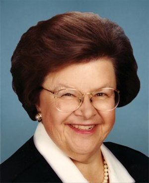 United States Senate election in Maryland, 2004 - Image: Barbara Mikulski 113th Congress