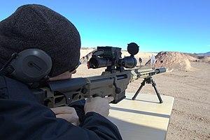 Barrett MRAD - Shooting a Barrett MRAD chambered for .308 Winchester with suppressor.