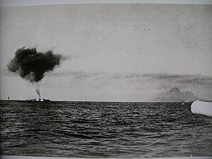 Battle of Cape Spada - Bartolomeo Colleoni sinking