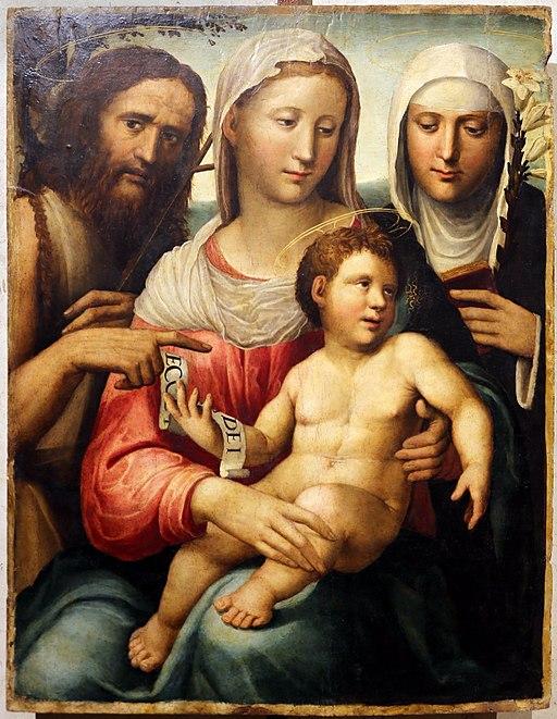 Bartolomeo Neroni, Sacra famiglia con San Giovannino e Santa Caterina, 1535 ca