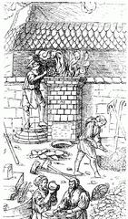 Bild - Stahlschmelze im Mittelalter - Wikimedia