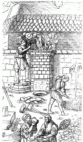 Ferrous metallurgy - Bloomery smelting during the Middle Ages.