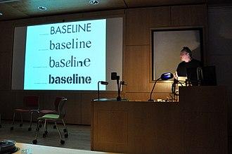 Baseline (magazine) - Image: Baseline magazine logo chronology