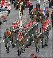 Austrian Guard Company on parade - July 14th 2007, Champs Elysées, Paris.