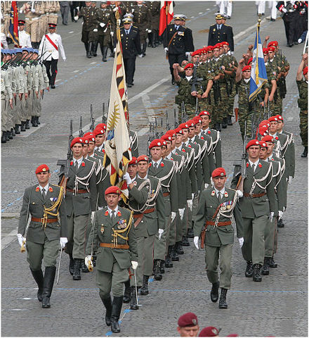 Austrian Guard Company during the Bastille Day parade