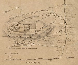 Battle of Yatay - Map of the Battle of Yatay.