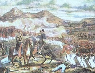 Battle of Famaillá - Detail of a lithography of the battle
