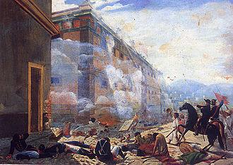 Timeline of Mexican history - Image: Batalla de la Alhóndiga de Granaditas