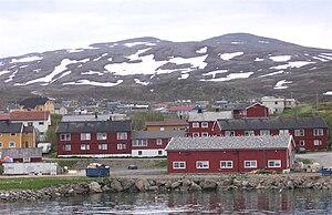 Båtsfjord - View of Båtsfjord village