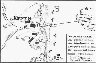 Battle of Kruty 1918 battle of the Ukrainian–Soviet War
