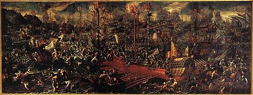 Battle of Lepanto 1595-1605 Andrea Vicentino