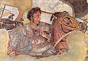 Alexander the Great fighting the Persian king Darius (Pompeii mosaic, from a 4th century BCE original Greek painting, now lost).