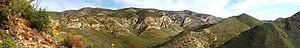 Baviaanskloof Mega Reserve - Panorama of the Baviaanskloof range