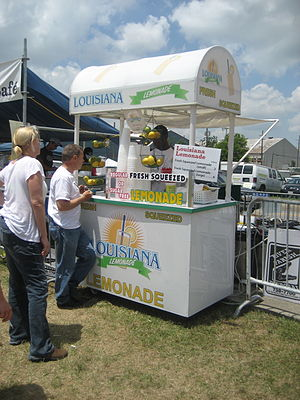 Lemonade stand - A professional vendor in New Orleans.