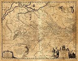Генеральная карта Украины Гийома Боплана
