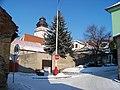 Bechyně, Táborská, křižovatka s Dlouhou, ke kostelu.jpg